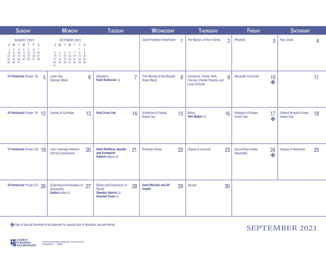Episcopal Church Calendar 2022.Churchpublishing Org 2022 Episcopal Lesson Calendar