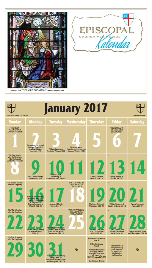 ChurchPublishing.org: Episcopal Church Year Guide Kalendar 2017