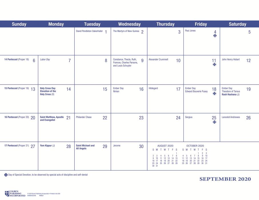 ChurchPublishing.org: Parish Wall Calendar 2021